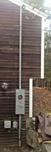outside electrical service, meter rise, weatherhead, upgrade, electrical service change