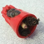 Melted splice due to space heater in Amston, CT home