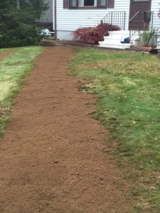 landscaping after well system repair in colchester ct