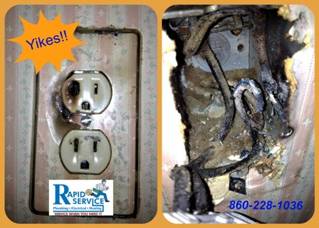 electrical-outlet-electrical-fire-no-ground-bad-electrical-connection