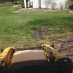 curtain drain, orangeburg pipe, clogged drain, rain water, pvc, drain