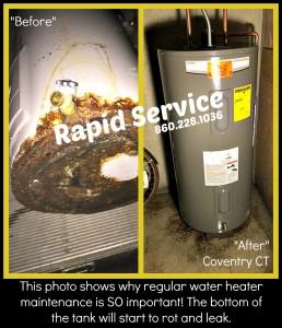 leaking-burst-water-heater-new-plumbing-installation-coventry-ct-plumber