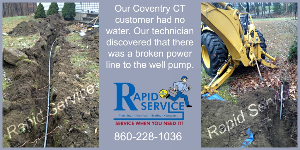 no water, well, well pump, well wire, electrical, plumbing, well system, coventry, ct