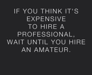 professional vs amateur