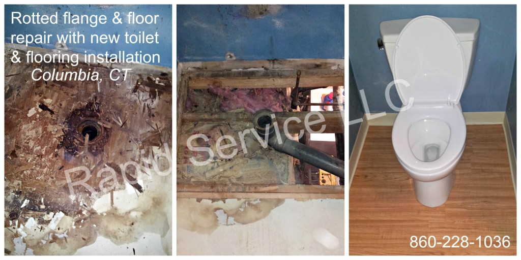 leaky toilet, leaking toilet, flange repair, plumbing, toilet, toilet repair, floor repair, emergency service, connecticut, ct, columbia