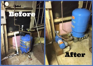 Jet well pump and well tank installed in Windham CT